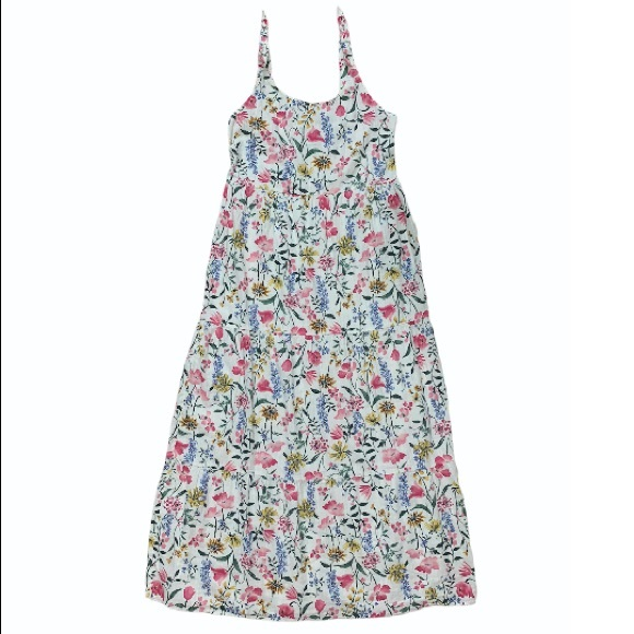 Old Navy Youth XL Strap Ruched Floral Maxi Dress